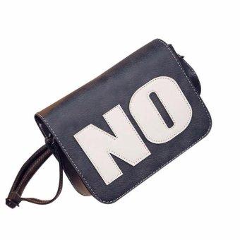 Women NO Letter Leather Handbag Shoulder Messenger Bag Satchel Tote - intl