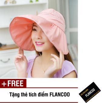 Nón nữ đi biển thời trang Flancoo 9783 (Hồng) + Tặng kèm thẻ tích điểm Flancoo