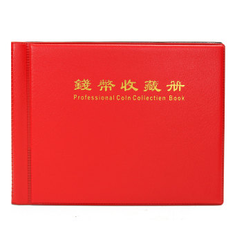 Red Portable Money Penny 5 pages12pockets 5pages24pockets 180Holders Collection Storage Coin Album Book Folder - intl