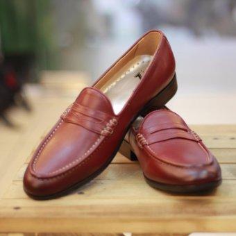 Giày da nam công sở Kazin màu nâu đỏ KZND021