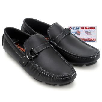 HL7770 - Giày mọi nam Huy Hoàng đế âm đính móc màu đen