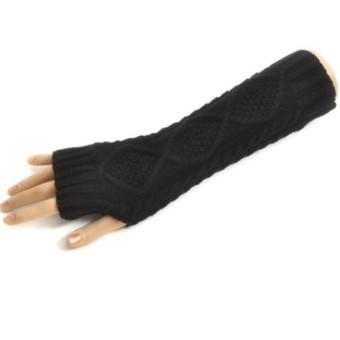 Women's Warm Winter Gloves Mittens Black - Intl