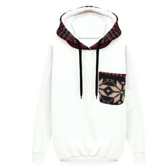 Women Hoodie Casual Jacket White - intl
