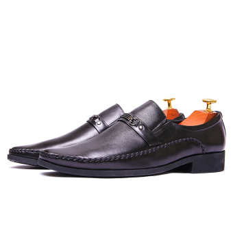 Giày tây nam da thật màu đen Da Giày Việt Nam VNL2AZ37D-1