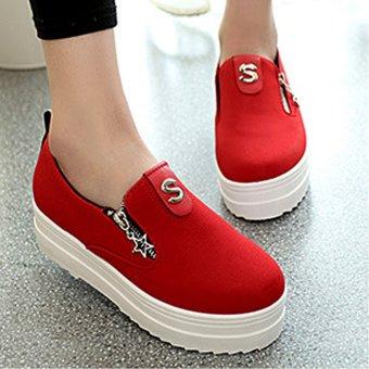 Giày bánh mì đế cao 173 (Đỏ)