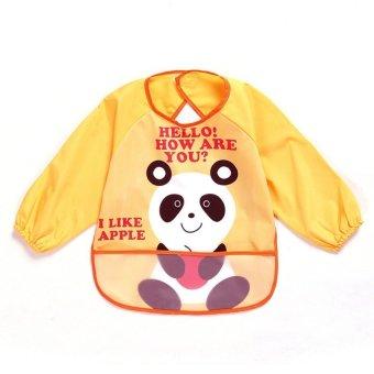 HKS Cartoon Baby Waterproof Anti Dressed Bib (Panda) - intl