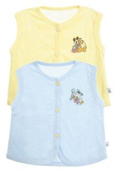 Bộ 2 áo khỉ thêu trẻ em Nanio A0004-Vxd (Vàng Xanh Đậm)
