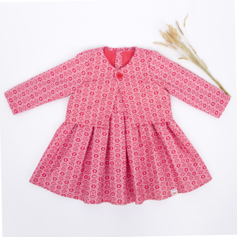 Đầm gấm 2 chi tiết (Hồng) papa - fashion for kids