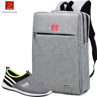 Combo Balo Cylinder BLC007GR + Giày Sneaker GS047BU (Xám) - CB009