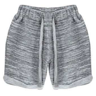 Cotton Straight Leg Elastic Pants For Baby Boys (Gray) - Intl