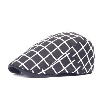 Mũ Beret ZANI ZM4044BK (Đen kẻ Caro trắng)