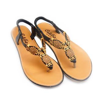 Giày xăng đan Lopez Cute D18 (Nâu Đen)