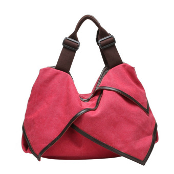 Multi-purpose Canvas Casual Shoulder Bag Crossbody Messager Bag Laptop Bag Handbag Watermelon for Women Girl RedMulti-purpose Canvas Casual Shoulder Bag Crossbody Messager Bag Laptop Bag Handbag Watermelon for Women Girl Red - intl