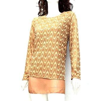 Áo sweater dệt kim dáng dài MiDu Fashion (Cam)