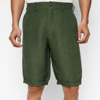Quần short nam linen màu Xanh MINT Basic (Xanh rêu)