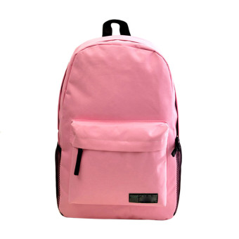 Fashion Simple Women Canvas Backpack Schoolbag Pink