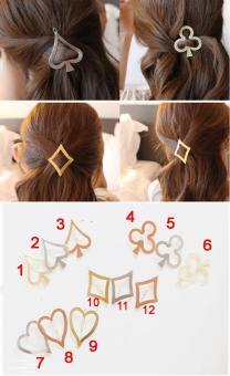Combo 4 kẹp tóc thời trang Hàn quốc (Mẫu số 2, 5, 7, 11) KAH43