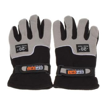 Windproof Men Thermal Winter Motorcycle Ski Snow Snowboard Gloves Black - Intl