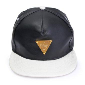 Men Women Leopard Hip Hop Baseball Flat Caps Adjustable Black Snapback Visor Hats - Intl