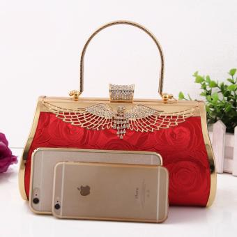 Túi Cầm Tay Hoa Hồng HMB6073(Đỏ)