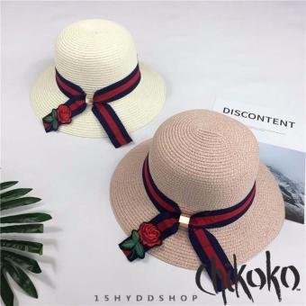 Combo 2 Nón nữ thời trang cao cấp hoa hồng CHIKOKO (Màu sáng)