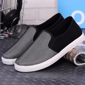 Giày lười vải nam mẫu mới ( bạc )