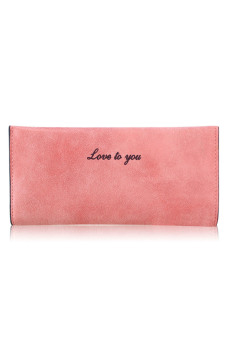 Women Girl Lady PU Leather Long Slim Frosted Wallet Card Holder Money Bag Watermelon Red - intl