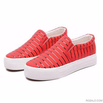 Giày lười Slip On nữ Rozalo RWG3665R-Đỏ