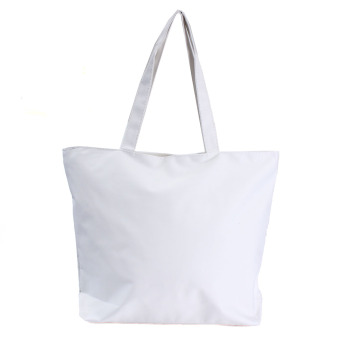 Canvas Shopper Handbag Shopping Summer Beach Shoulder Bag White - Intl