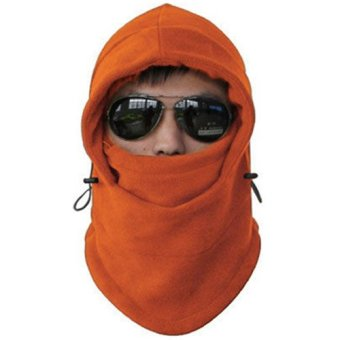 Warm Winter Beanie CS Hat Sport Clothing Cap Men Scarf Hood Ski Face Cover Mask Orange - intl