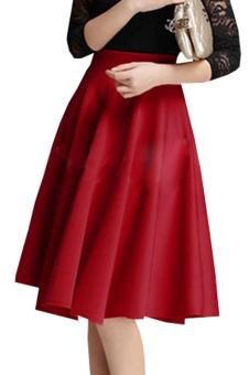 Chân váy midi vintange LV562 (Đỏ)