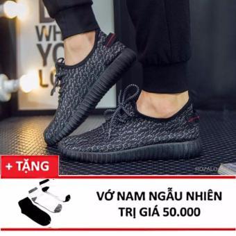 Giày Sneaker thể thao nam Sportmax SPM905626D - Đen + Tặng 1 đôi tất,vớ