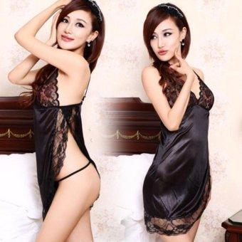 Đầm ngủ xẻ hông sexy quyến rủ cho sang say đấm-100
