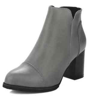 Giày bốt nữ thời trang cung cấp bởi Foxer BD51115G (Ghi)