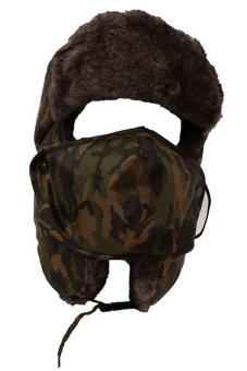 Lalang Men Unisex Bomber Aviator Trapper Hat Ski Cap (Camo Yellow)