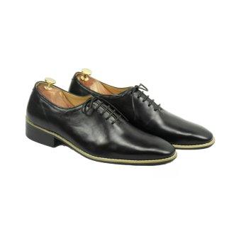 Giày Da Bò Công Sở Phong Cách Châu Âu Màu Đen LG002 Leoluxury