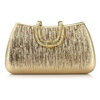 Rhinestone Crystal Evening Clutch Bag Wedding Party Shoulder Messenger Handbag Golden