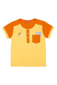 Áo thun bé trai tay ngắn V.T.A.Kids BT41104VC (Vàng phối cam)