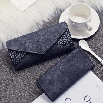 Bộ đôi ví cầm tay nữ thòi trang da mêm (xám)