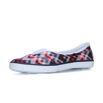 Giày Búp Bê Nữ QuickFree Fashion B160102-003 (Chéo Đỏ)