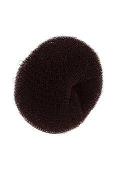 HKS Women Girl Hair Bun Chignon Donut Ring Donut Shaper Hair Styler Maker 3 Colors Brown S - intl
