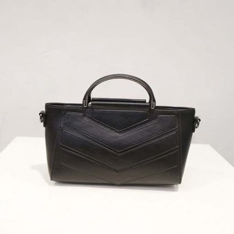 Elegent PU leather shoulder bag (Black) - intl