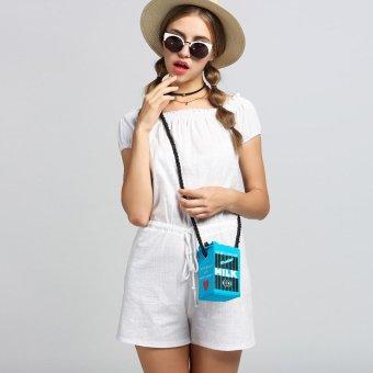 Linemart Limemart Korea Fashion Women's Girl Painting Pattern Single Shoulder Bag Handbag ( Black ) ( Black ) - intl