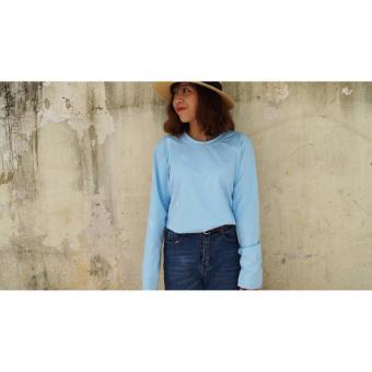 Áo thun cotton 100% dài tay (Màu xanh dương, màu hồng, màu vàng đất)