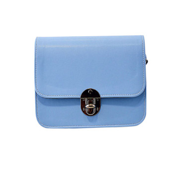 Lovely Girl Leather Mini Small Adjustable Shoulder Bag Handbag Messenger Blue