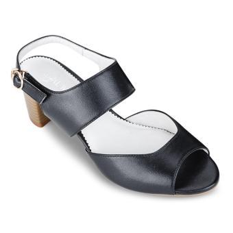 Giày cao gót Royal Walk đen hở mũi