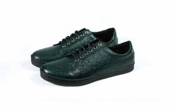 Sneakers phối vân da đà điểu Tathanium Footwear (Xanh lá)