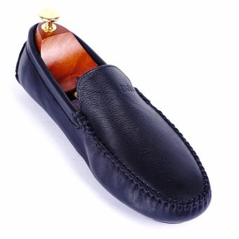 Giày lười nam da thật cao cấp Da Giày Việt Nam - VNLHV16LA4D-1 (Đen)