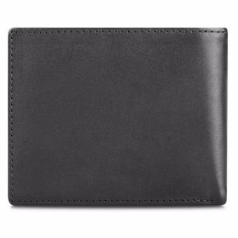 Bộ ví và thắt lưng nam da bò thật LAKA đen trơn + Tặng 01 ví nam da bò LAKA (đen vân cá sấu) trị giá 300.000đ