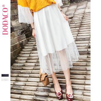 Chân Váy Midi Xếp Li Nữ Hàn Quốc Thời Trang DODACO DDC1877 TR VNU M - L 1851 (Trắng)